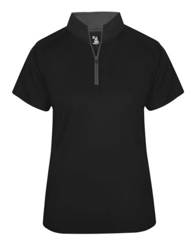 B-Core Women's Short Sleeve 1/4 Zip Tee