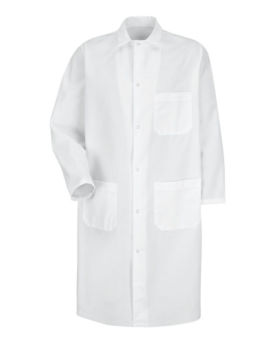 Butcher Coat with Exterior Chest Pocket