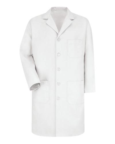 Button Front Lab Coat