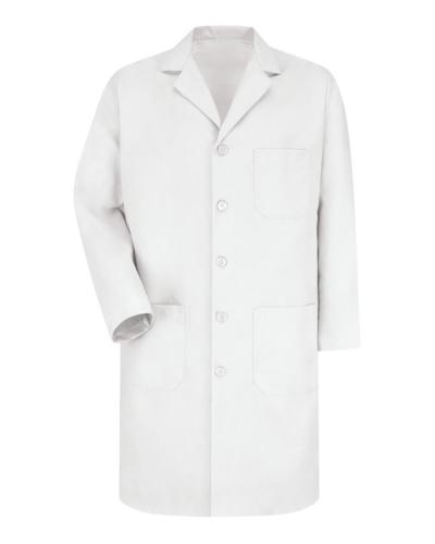 Button Front Lab Coat - Long Sizes