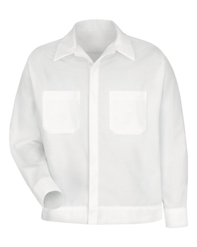 Button-Front Shirt Jacket - Long Sizes