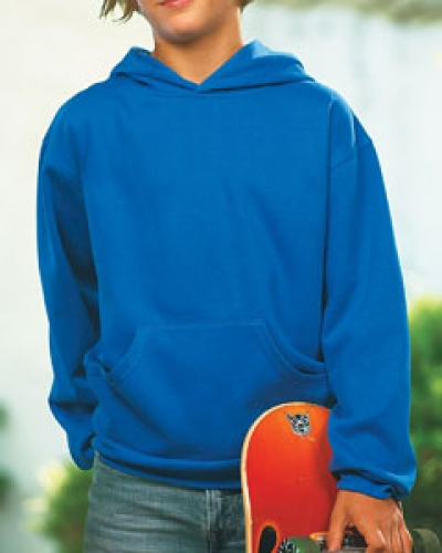 Youth Fleece Hooded Pullover Sweatshirt With Pouch Pocket