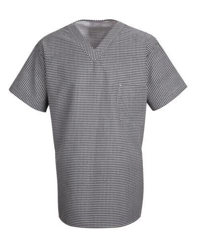 Checked V-Neck Chef Shirt