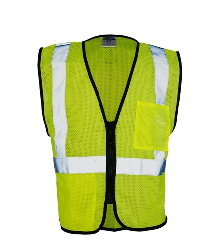 Class 2 Double Pocket Zipper Economy Vest