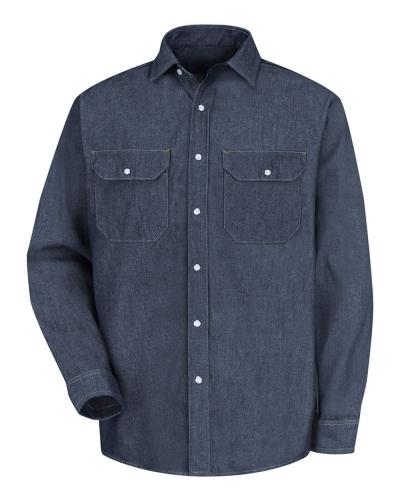 Deluxe Denim Long Sleeve Shirt Long Sizes