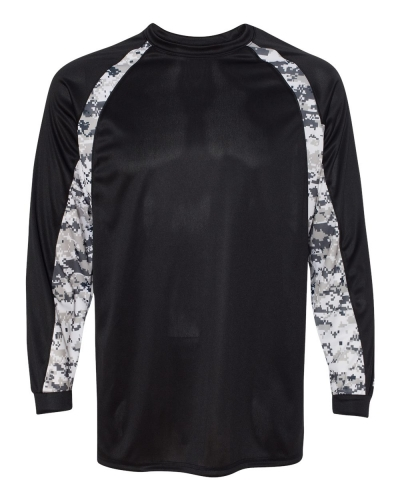 Digital Camo Hook Long Sleeve T-Shirt