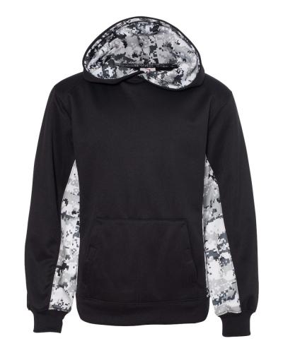 Digital Camo Youth Colorblock Performance Fleece Hooded Sweatshirt