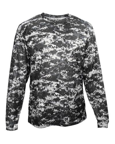 Digital Camo Youth Long Sleeve T-Shirt