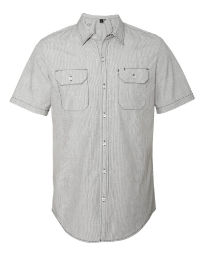 Dobby Stripe Short Sleeve Shirt