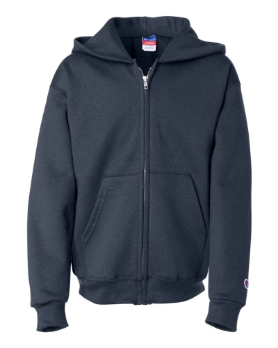 Double Dry Eco Youth Full-Zip Hooded Sweatshirt