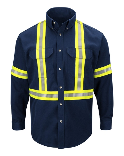 Dress Uniform Shirt with CSA reflective trim - EXCEL FR® ComforTouch
