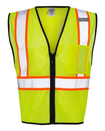Economy Vest with Contrast Zipper Front