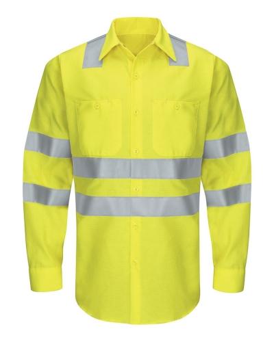 Enhanced & Hi-Visibility Long Sleeve Work Shirt