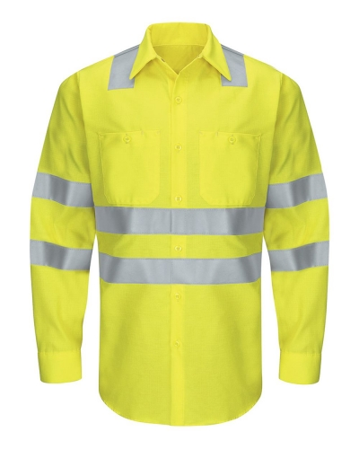 Enhanced & Hi-Visibility Long Sleeve Work Shirt - Long Sizes