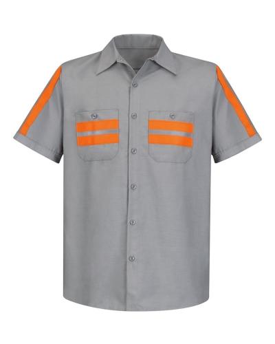 Enhanced Visibility Industrial Work Shirt Long Sizes