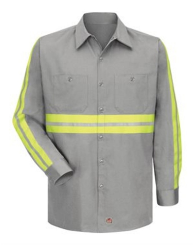 Enhanced Visibility Long Sleeve Cotton Work Shirt