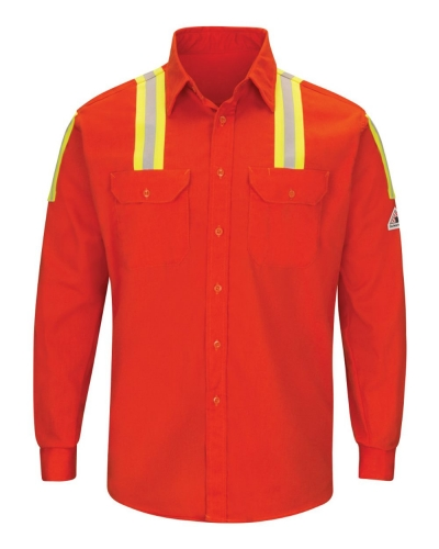 Enhanced Visibility Long Sleeve Uniform Shirt - Long Sizes