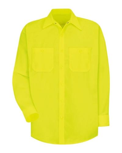 Enhanced Visibility Long Sleeve Work Shirt Long Sizes
