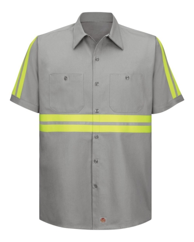 Enhanced Visibility Short Sleeve Cotton Work Shirt