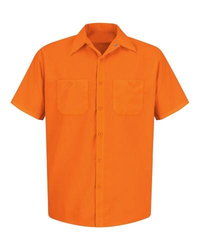 Enhanced Visibility Short Sleeve Work Shirt Tall Sizes