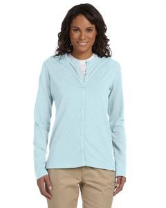 Ladies' Stretch Jersey Long-Sleeve Cardigan
