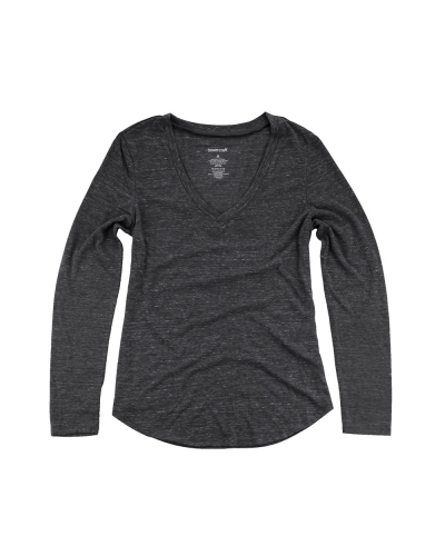 Girl's Heather Long Sleeve V-Tee