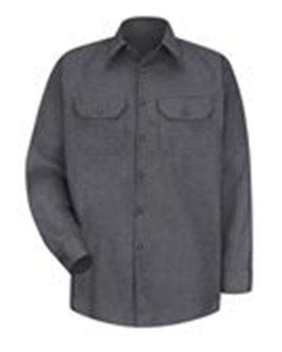 Heathered Poplin Long Sleeve Shirt - Long Sizes