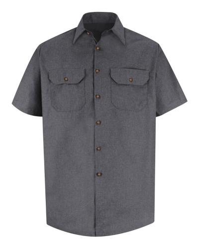 Heathered Poplin Uniform Shirt