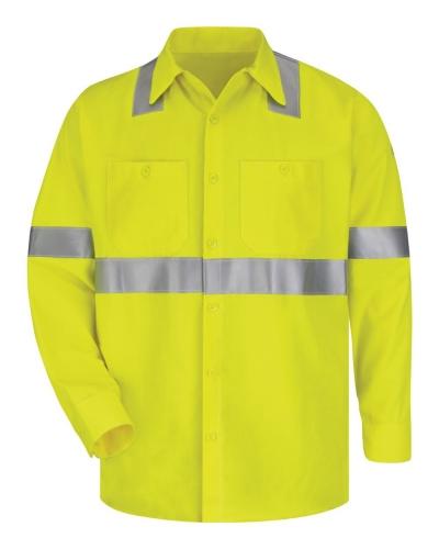 High Visibility Long Sleeve Work Shirt