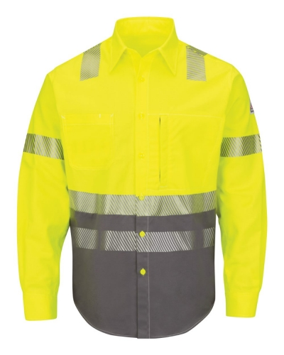 Hi-Visibility Color Block Uniform Shirt - EXCEL FR® ComforTouch® - 7 oz. - Long Sizes