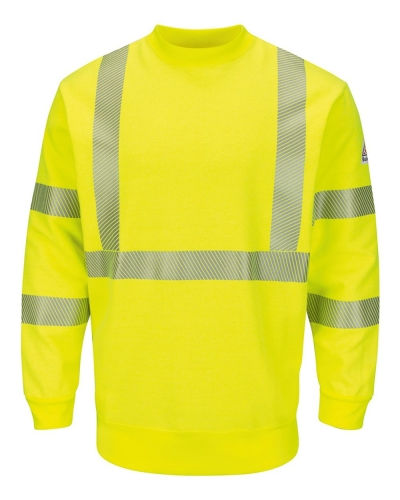 Hi-Visibility Crewneck Fleece Sweatshirt