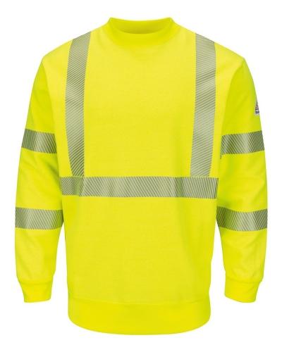 Hi-Visibility Crewneck Fleece Sweatshirt - Long Sizes