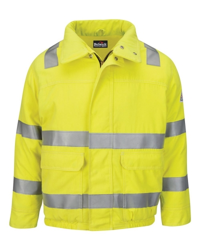 Hi-Visibility Lined Bomber Jacket with Reflective Trim - CoolTouch®2 - Long Sizes