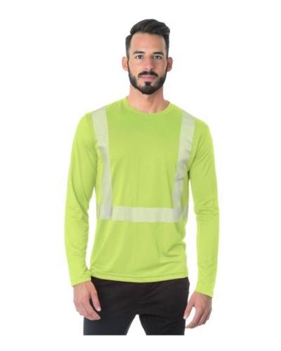 Hi-Visibility Long Sleeve Performance T-Shirt - Segmented Tape