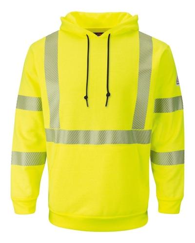Hi-Visibility Pullover Hooded Fleece Sweatshirt