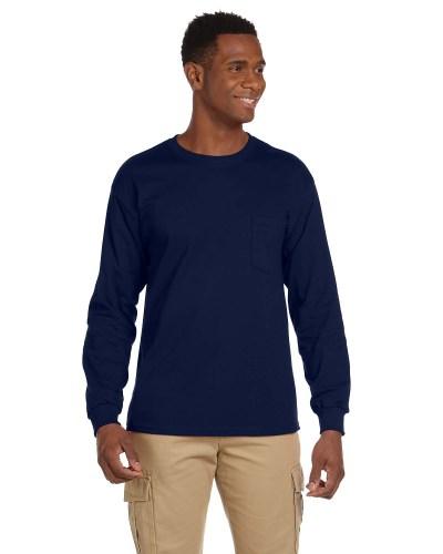 Adult Ultra Cotton® 6 oz. Long-Sleeve Pocket T-Shirt