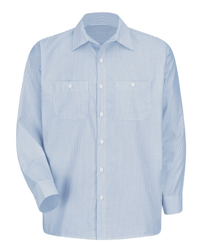 Industrial Stripe Work Shirt Long Sizes