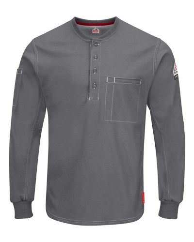 iQ Series® Plus Long Sleeve Henley - Long Sizes