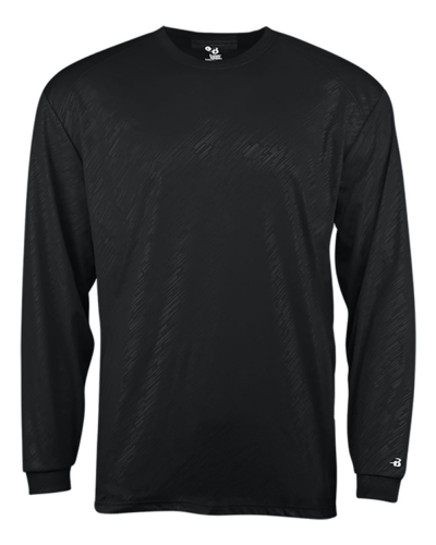 Line Embossed Long Sleeve Tee