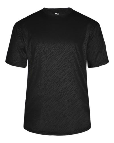 Badger 4131 Line Embossed Short Sleeve T-Shirt