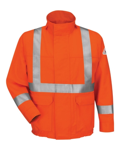 Lined Bomber Jacket with CSA Compliant Reflective Trim - EXCEL FR® ComforTouch® - Long Sizes