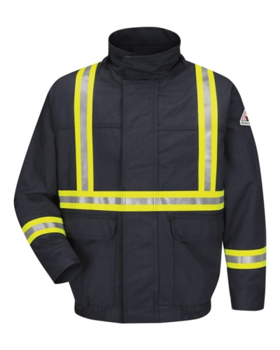 Lined Bomber Jacket with Reflective Trim - EXCEL FR® ComforTouch