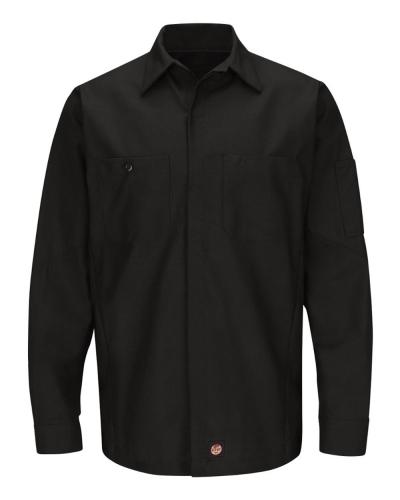 Long Sleeve Automotive Crew Shirt - Long Sizes