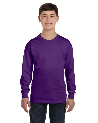 Youth Cotton 5.3 oz. Long-Sleeve T-Shirt