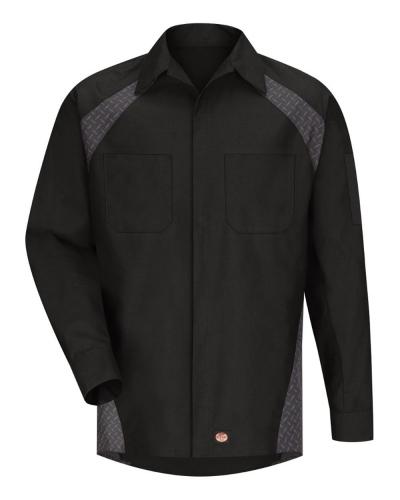 Long Sleeve Diamond Plate Shop Shirt - Long Sizes