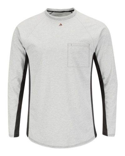 Long Sleeve FR Two-Tone Base Layer with Concealed Chest Pocket - EXCEL FR