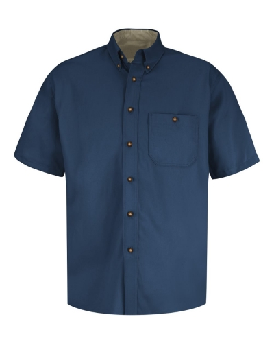 Men's S/S 100% Cotton Dress Shirt