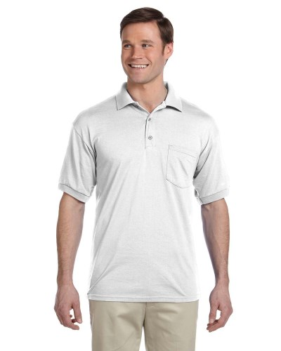 Adult DryBlend® 6 oz. 50/50 Jersey Polo with Pocket