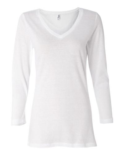 Missy Three-Quarter Sleeve Jersey V-Neck T-Shirt