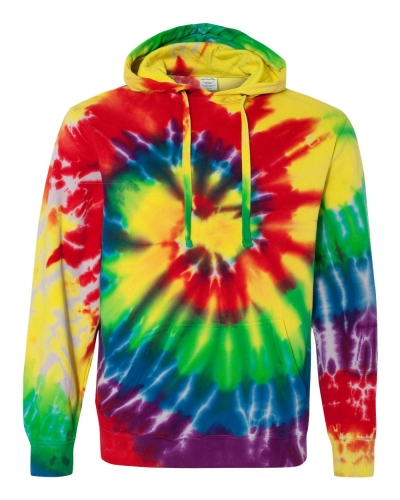 Multi-Color Spiral Pullover Hooded Sweatshirt